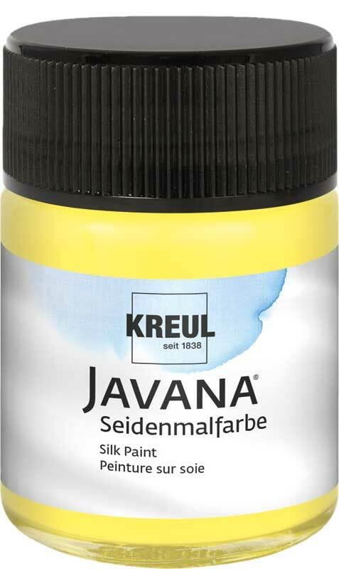 Javana Seidenmalfarbe - 50 ml, zitronengelb