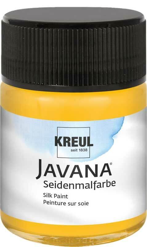 Javana zijdeverf - 50 ml, maïsgeel