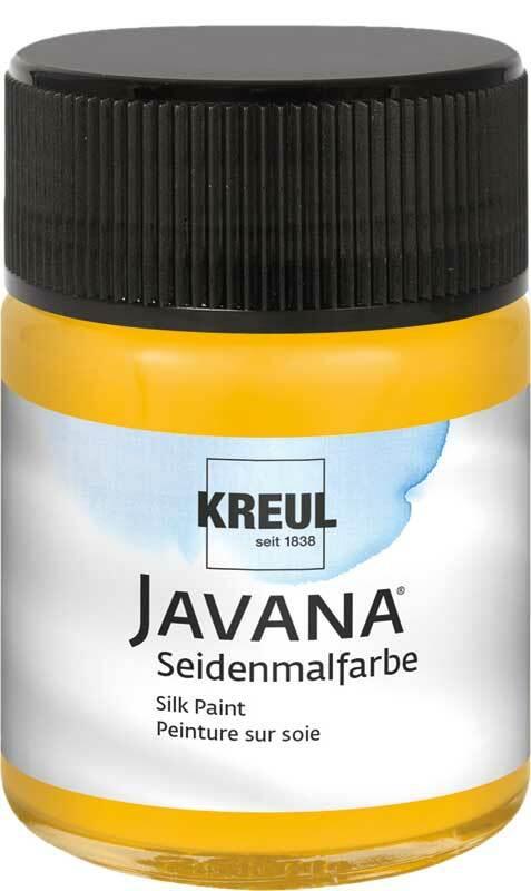 Javana zijdeverf - 50 ml, zonnegeel