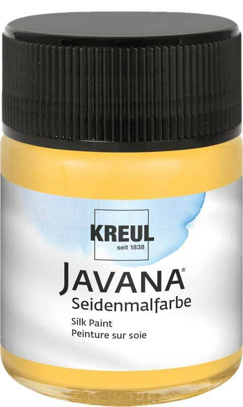 Javana Seidenmalfarbe - 50 ml, goldgelb