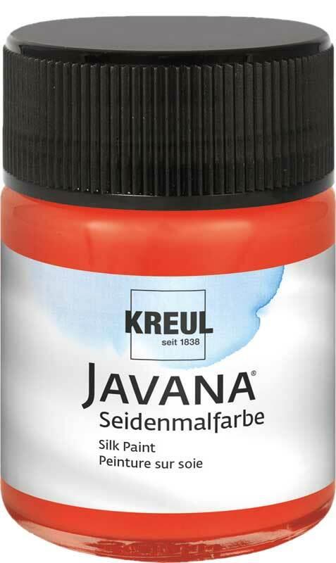 Javana Peinture sur soie - 50 ml, rouge rosé
