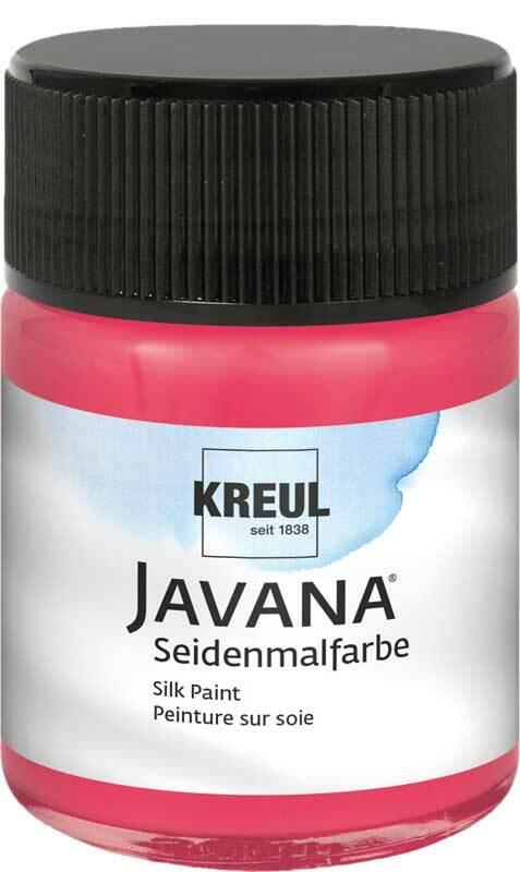 Javana Seidenmalfarbe - 50 ml, rot