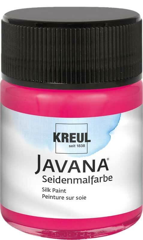 Javana Peinture sur soie - 50 ml, lie de vin