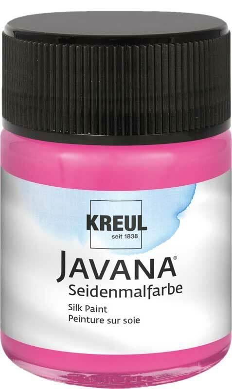 Javana zijdeverf - 50 ml, zuurstokroze