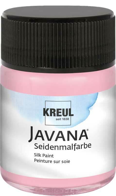 Javana Peinture sur soie - 50 ml, rosé