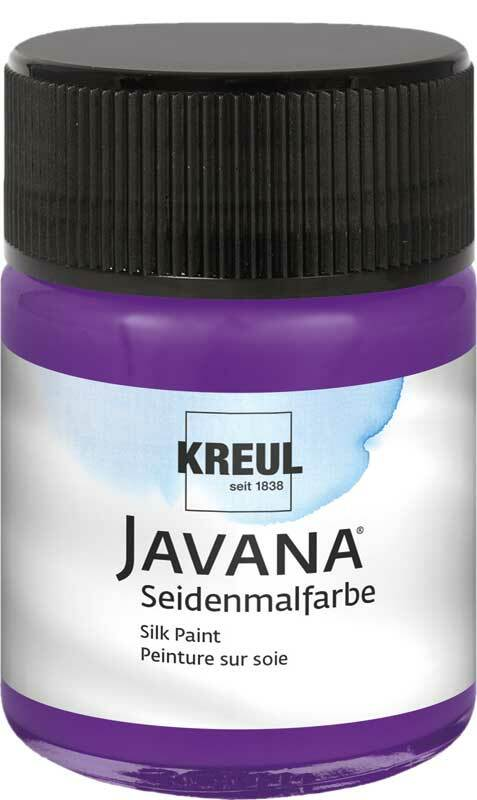 Javana Peinture sur soie - 50 ml, violet