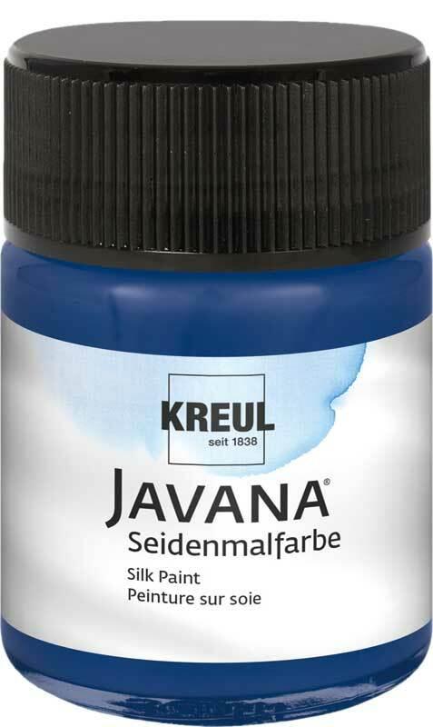 Javana Peinture sur soie - 50 ml, bleu nuit