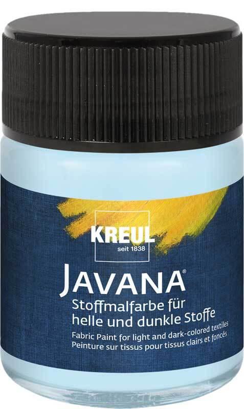 Javana Peinture textile opaque - 50 ml, bleu glaci