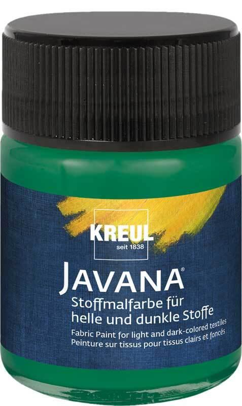 Javana Peinture textile opaque - 50 ml, vert foncé