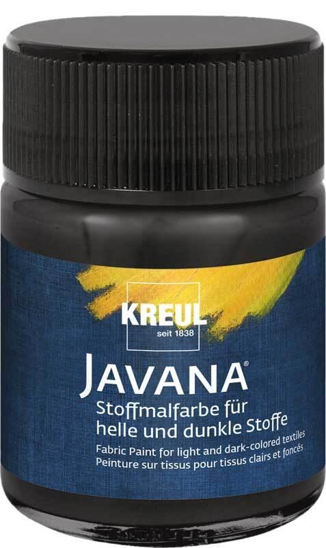 Javana Peinture textile opaque - 50 ml, noir