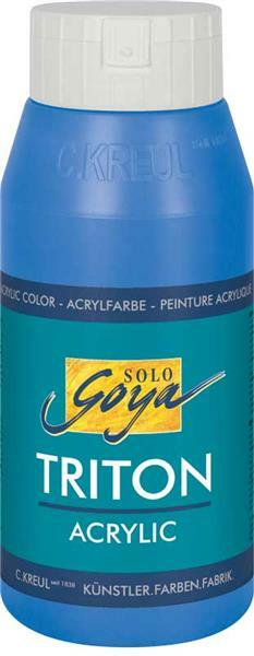 Triton Acrylic univ. verf - 750 ml, primairblauw