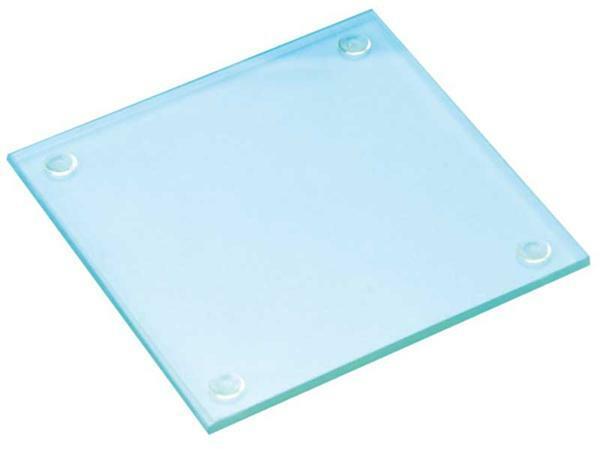 Glas Untersetzer - quadratisch, 9,5 x 9,5 cm