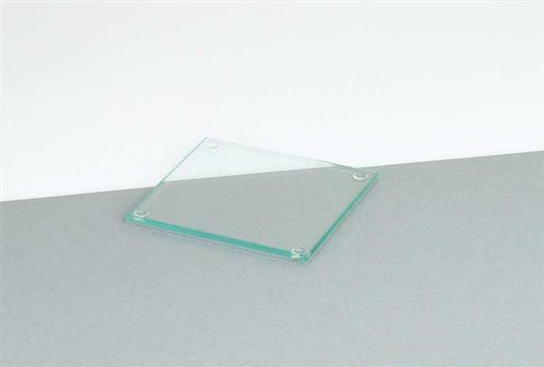 Sous-plat en verre - carré, 9,5 x 9,5 cm