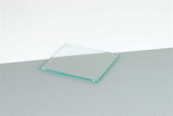 Glazen onderzetter - vierkant, 9,5 x 9,5 cm
