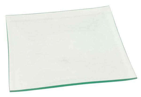 Assiette en verre - carrée, 19 x 19 cm