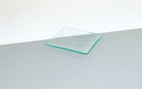 Assiette en verre - carrée, 14 x 14 cm