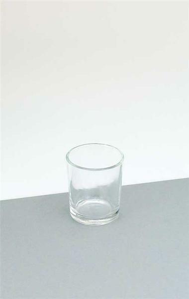 Teelichtglas, rund