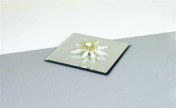 Spiegel Platte, 15 x 15 cm