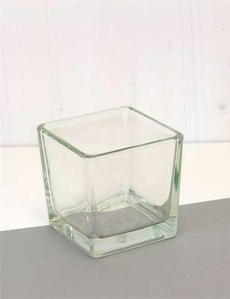 Cube en verre - conique, env. 10 cm