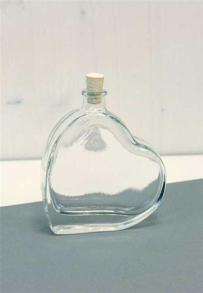 Glasflasche - Herz, 100 ml