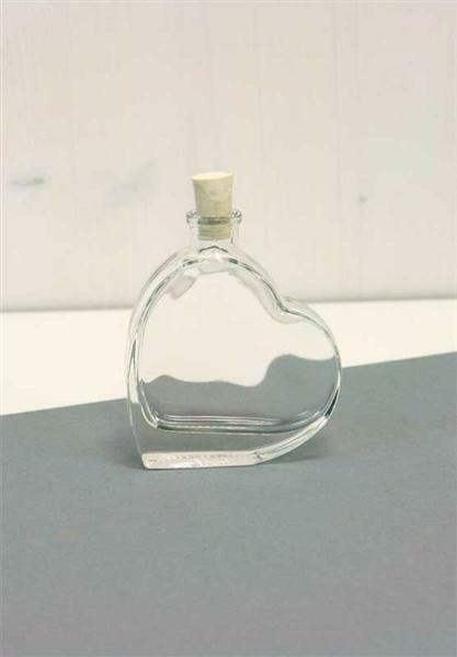 Bouteille en verre - Cœur, 50 ml