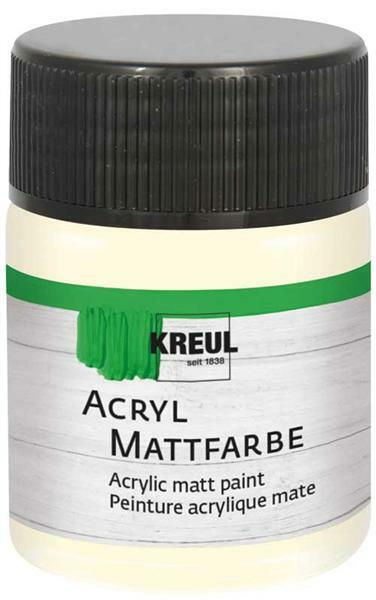Peinture acrylique mate - 50 ml, ivoire