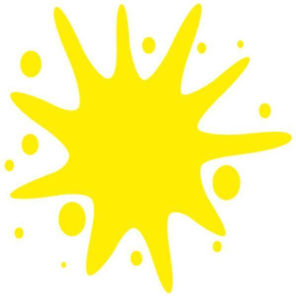 Peinture acrylique mate - 50 ml, jaune
