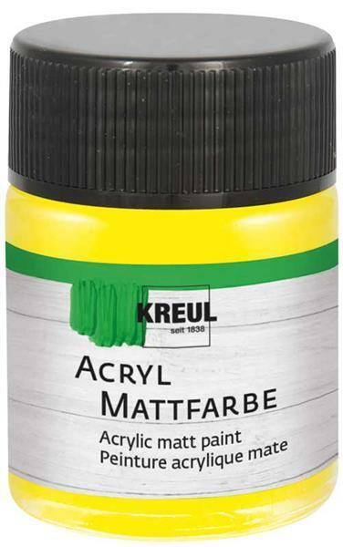 Matte acrylverf - 50 ml, geel