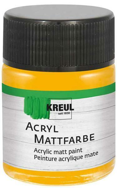 Peinture acrylique mate - 50 ml, jaune doré