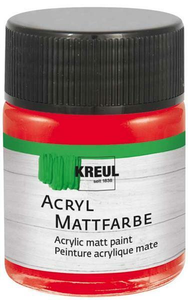 Peinture acrylique mate - 50 ml, rouge