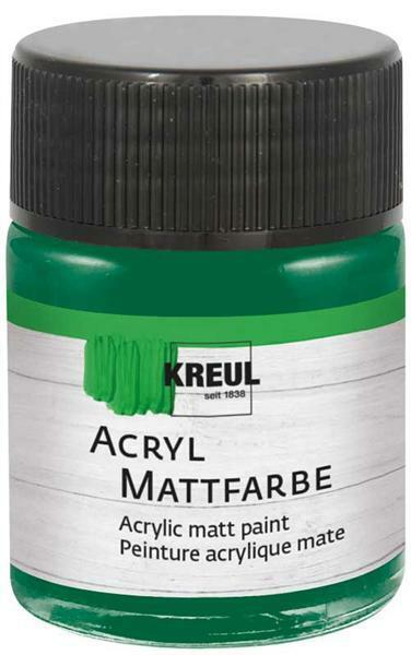 Peinture acrylique mate - 50 ml, vert