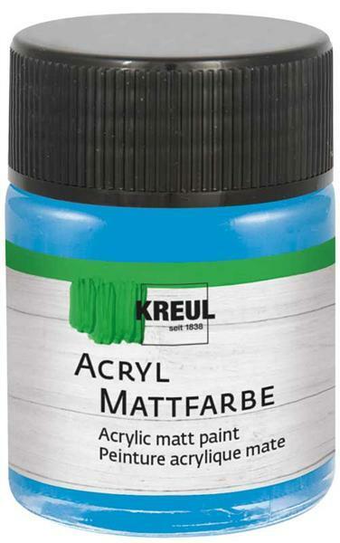 Peinture acrylique mate - 50 ml, bleu clair