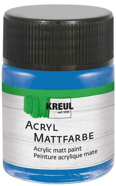 Acryl Mattfarbe - 50 ml, enzianblau