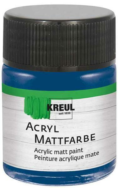 Peinture acrylique mate - 50 ml, bleu foncé