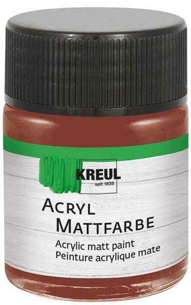Peinture acrylique mate - 50 ml, brun fauve