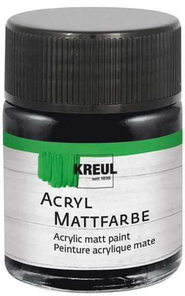 Peinture acrylique mate - 50 ml, noir