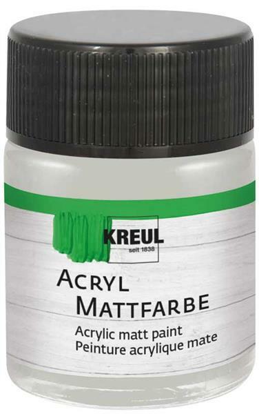 Matte acrylverf - 50 ml, zilver