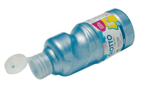 Giotto Temperafarbe - 250 ml, Perleffekt, blau