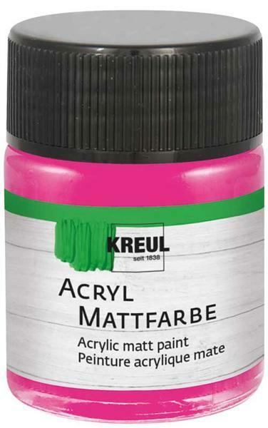 Matte acrylverf - 50 ml, zuurstokroze