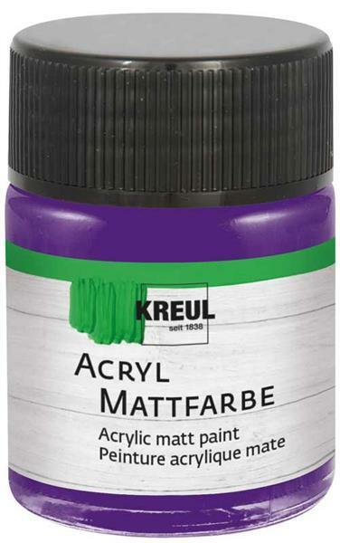 Peinture acrylique mate - 50 ml, violet