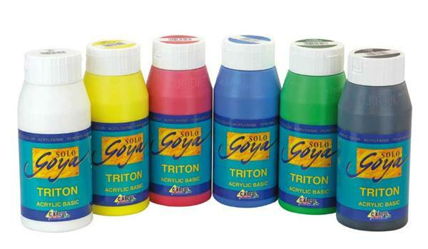 Triton Acrylic set - 6 x 750 ml