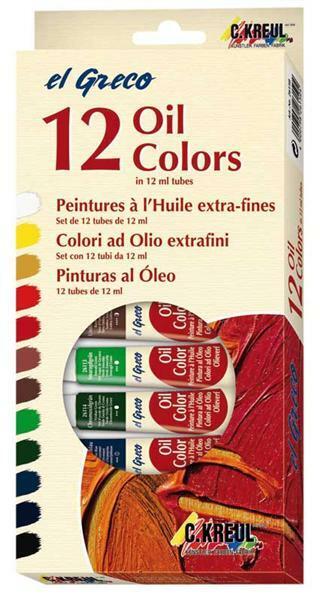 El Greco Ölfarben, 12er Set