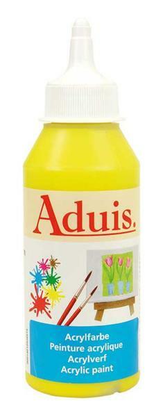 Aduis acrylverf - 250 ml, echt geel licht
