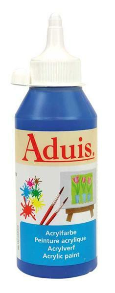 Aduis acrylverf - 250 ml, primair blauw