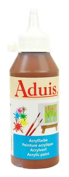 Aduis acrylverf - 250 ml, roestbruin donder