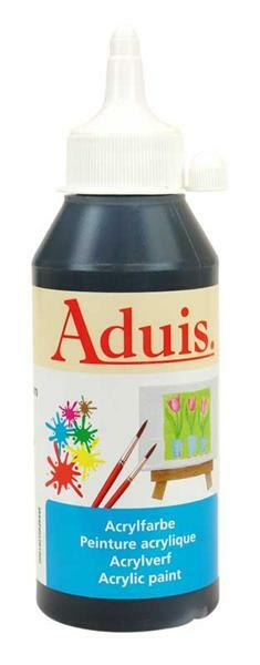 Aduis acrylverf - 250 ml, zwart