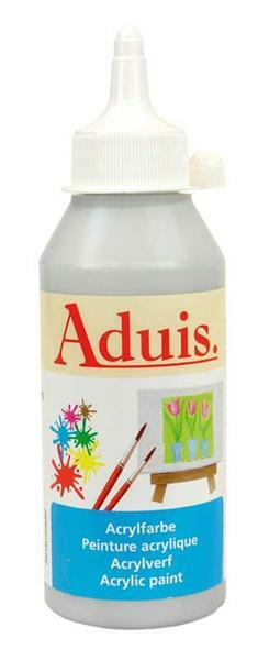 Aduis acrylverf - 250 ml, zilver