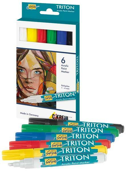 Acrylic Paint Marker Set - 1 - 4 mm, bunt
