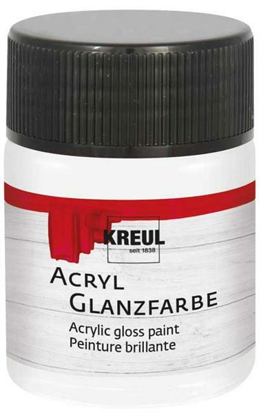 Acryl glansverf - 50 ml, wit