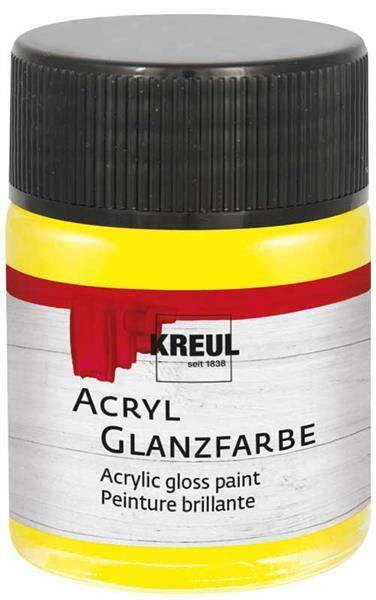 Acryl glansverf - 50 ml, geel